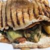 Portobello Mushroom Sandwich with Sweet Potato Chips and Impwa
